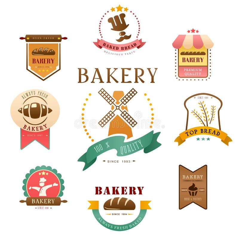面包店标签 向量例证