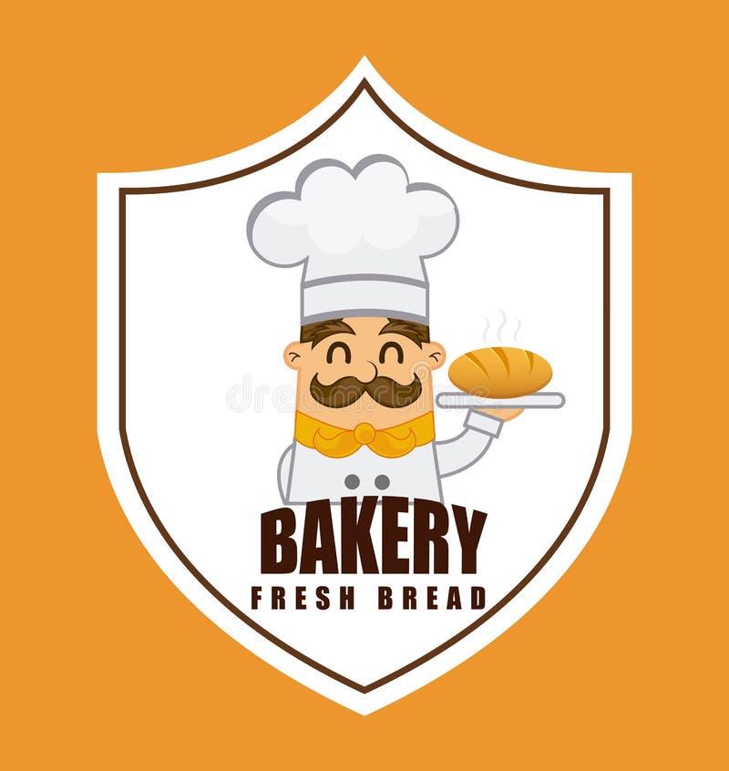 面包店标签 库存例证