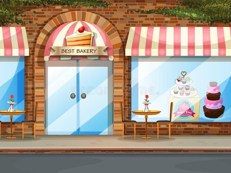 面包店界面 向量例证