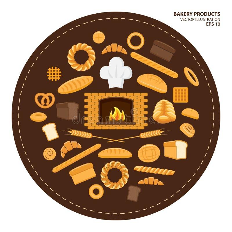 面包店设计图象产品 皇族释放例证