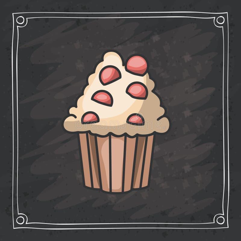 面包店设计杯形蛋糕松饼  向量例证