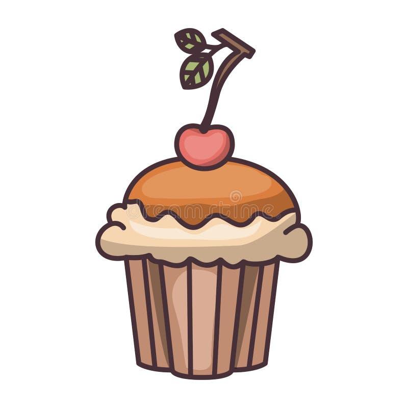 面包店设计被隔绝的松饼  库存例证