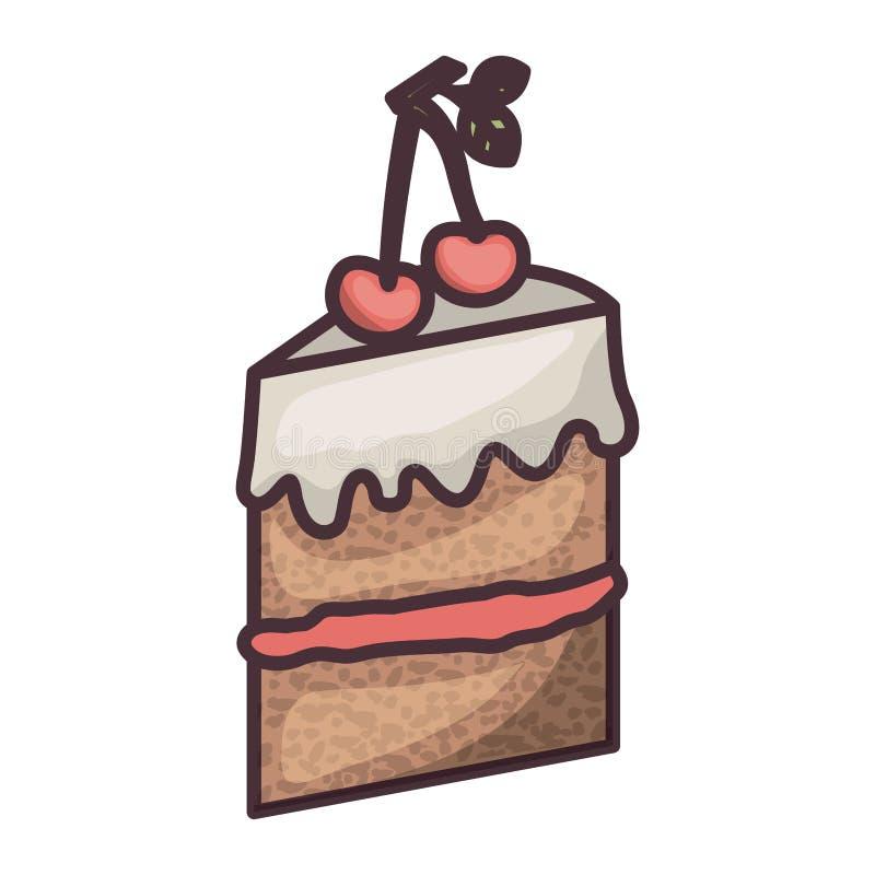 面包店设计被隔绝的蛋糕  皇族释放例证