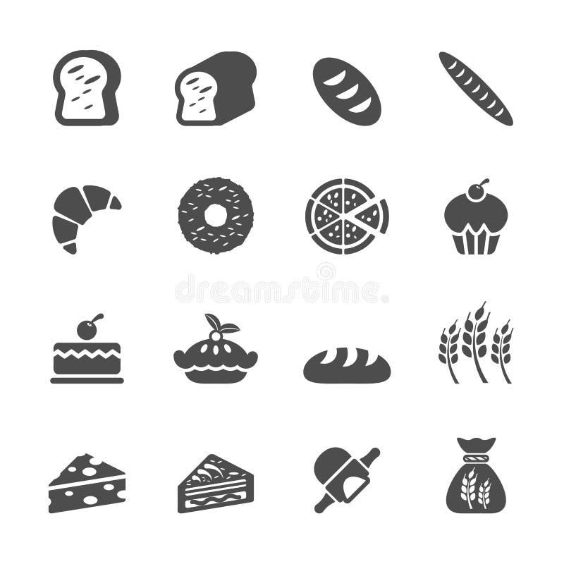 面包店象集合,传染媒介eps10 向量例证