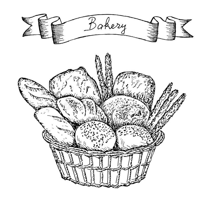面包店集 库存例证