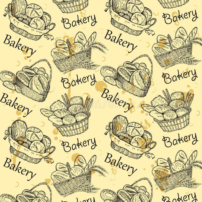 面包店集 向量例证