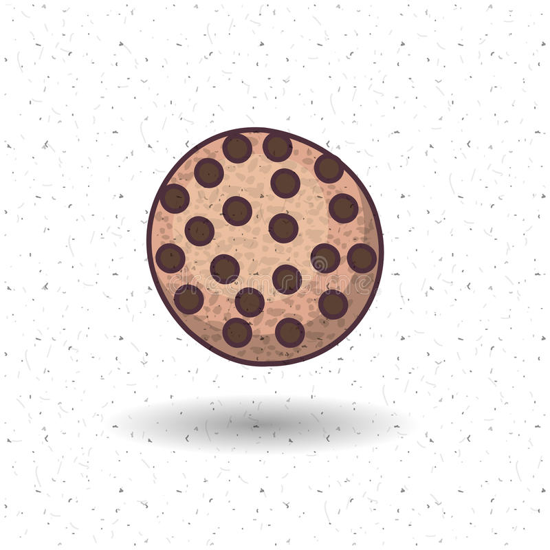 面包店食物设计Coockie  皇族释放例证