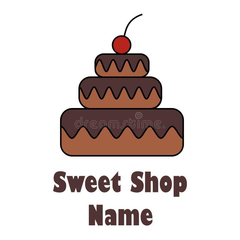 面包店,酥皮点心,糖果店,甜商店商标,象征,标签 向量例证