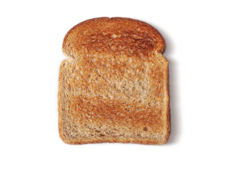 面包敬酒的黄油没有 图库摄影