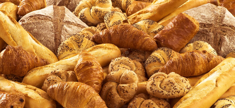 面包新鲜的酥皮点心 免版税库存照片