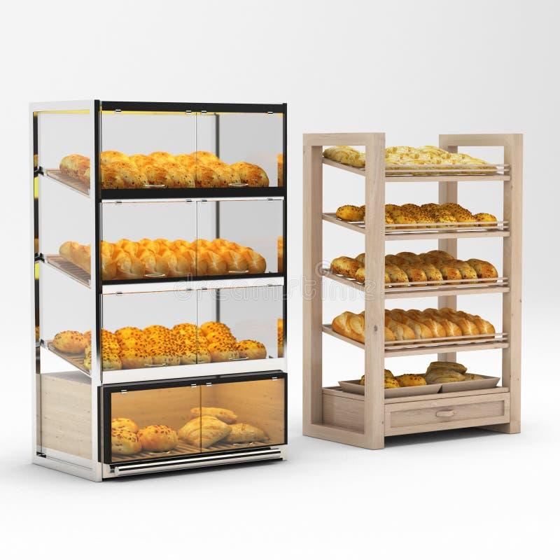 面包架子 皇族释放例证