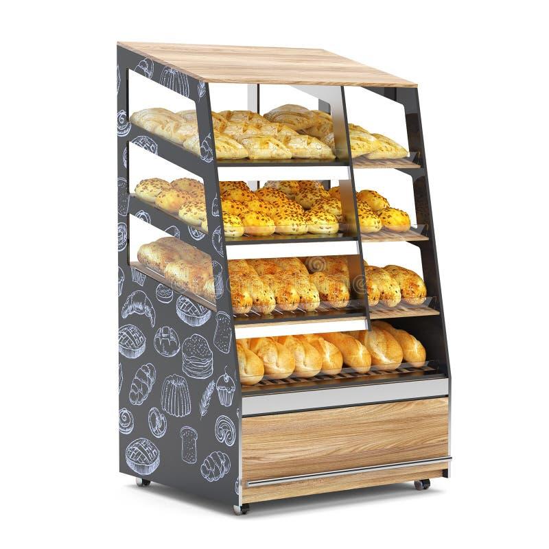 面包架子 向量例证