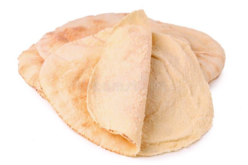 面包查出的pita 图库摄影