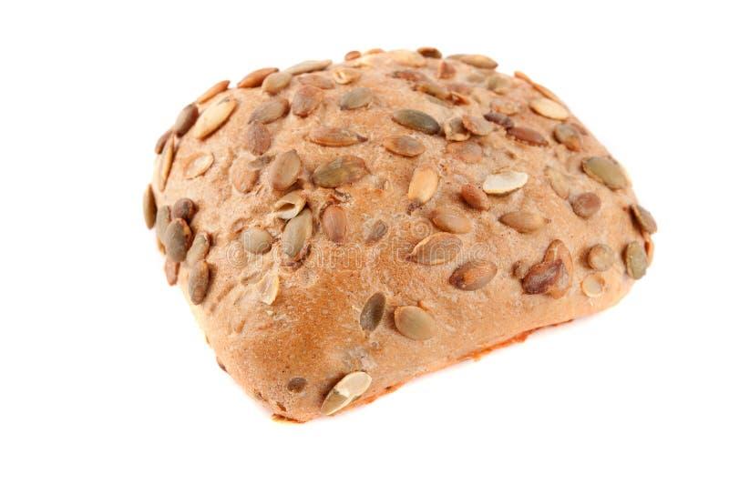 面包植入的南瓜卷 免版税库存图片