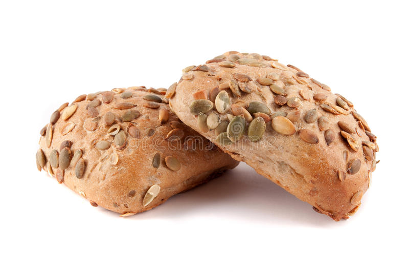 面包植入的南瓜卷 库存图片