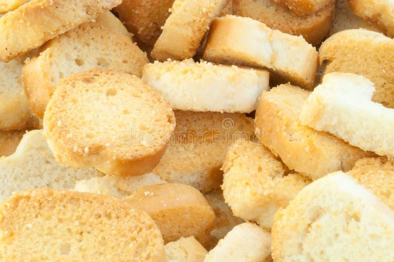 面包油煎方型小面包片 图库摄影