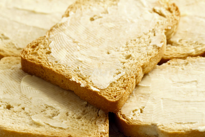 面包涂了黄油 库存图片