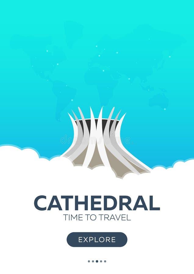 面包渣 大教堂 时刻旅行 旅行海报 传染媒介平的例证 皇族释放例证
