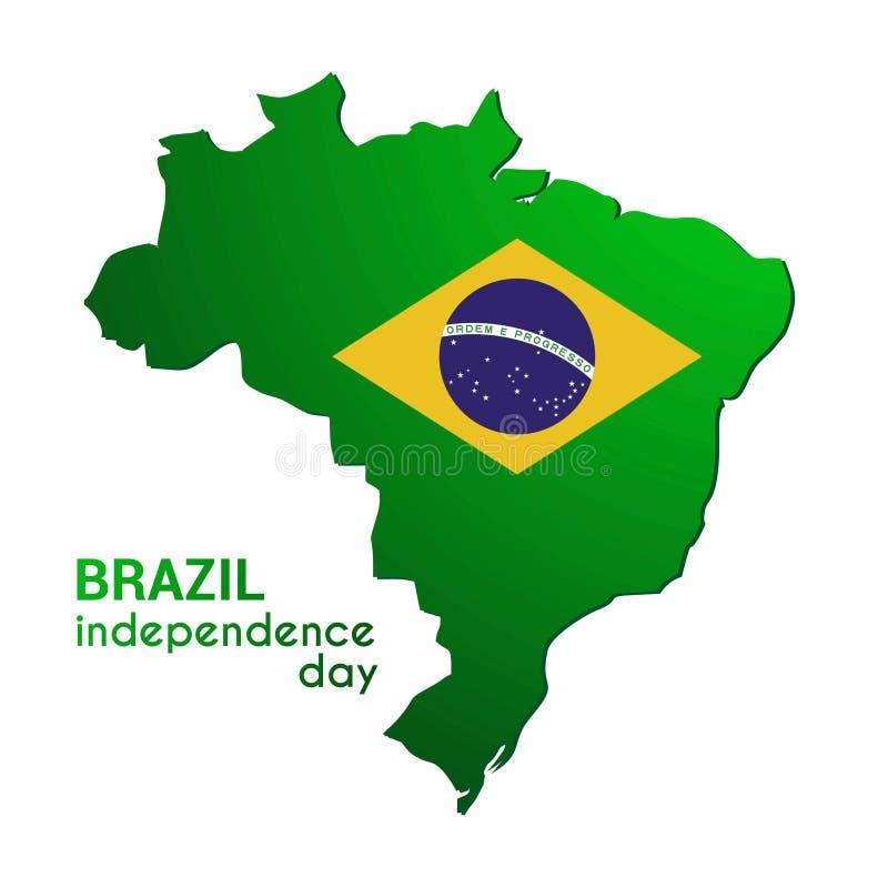 面包渣 愉快的独立日!在旗子颜色Templ的国家地图 库存例证