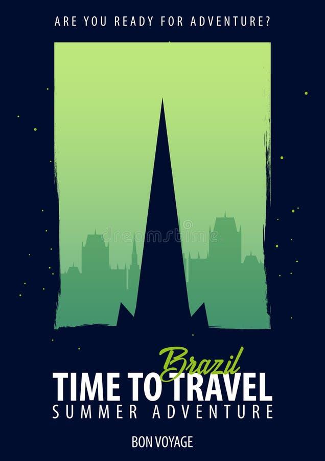 面包渣 时刻旅行 旅途,旅行,假期 您的冒险 一路平安 皇族释放例证