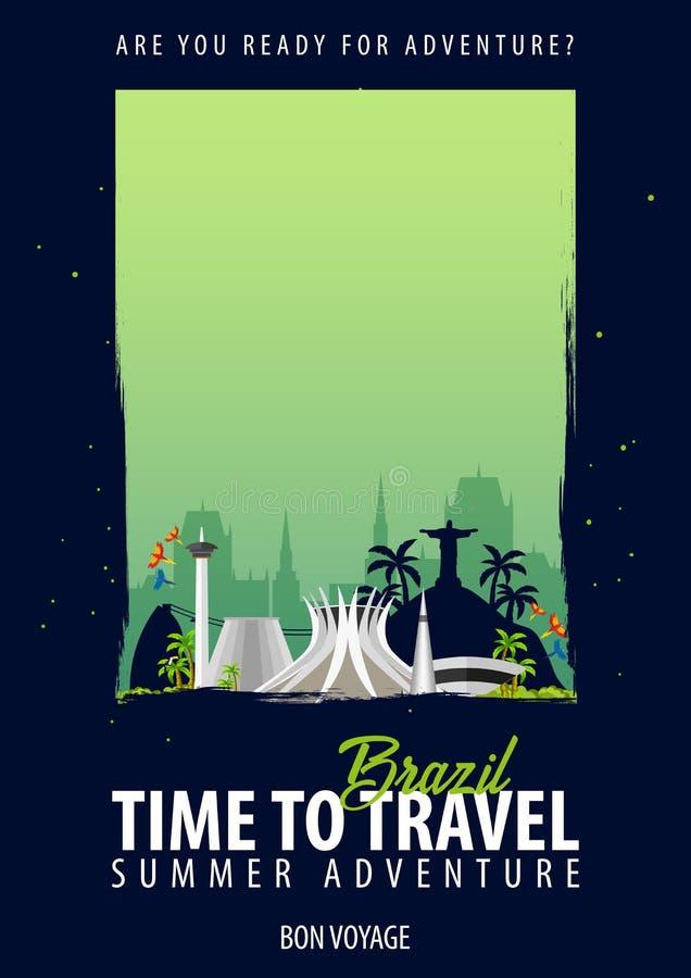 面包渣 时刻旅行 旅途,旅行,假期 您的冒险 一路平安 库存例证