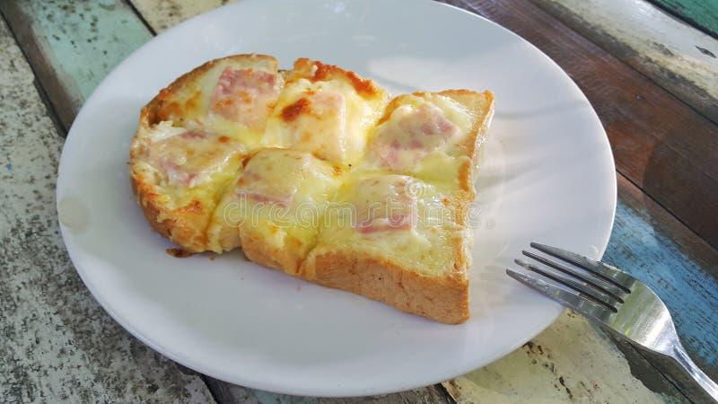 面包火腿乳酪 免版税库存照片