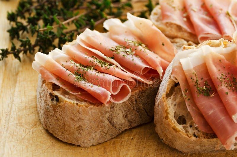 面包火腿 免版税图库摄影