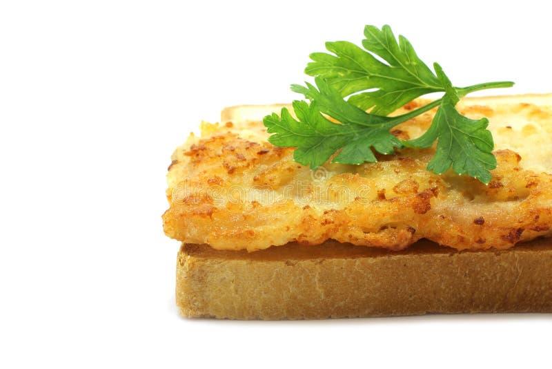 面包炸肉排白色 图库摄影