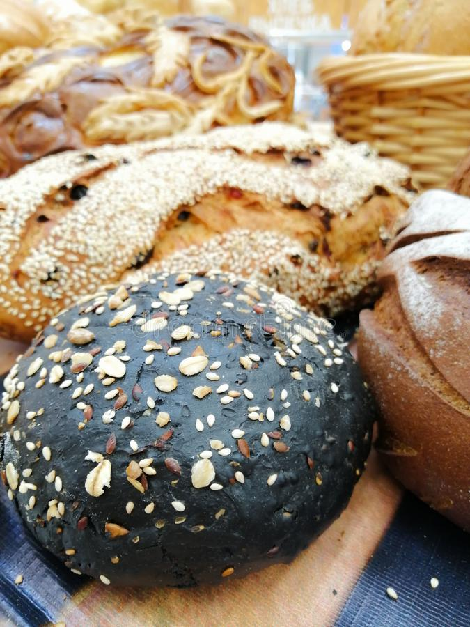 面包烘烤的健康健康生活方式麦子黑麦 库存照片