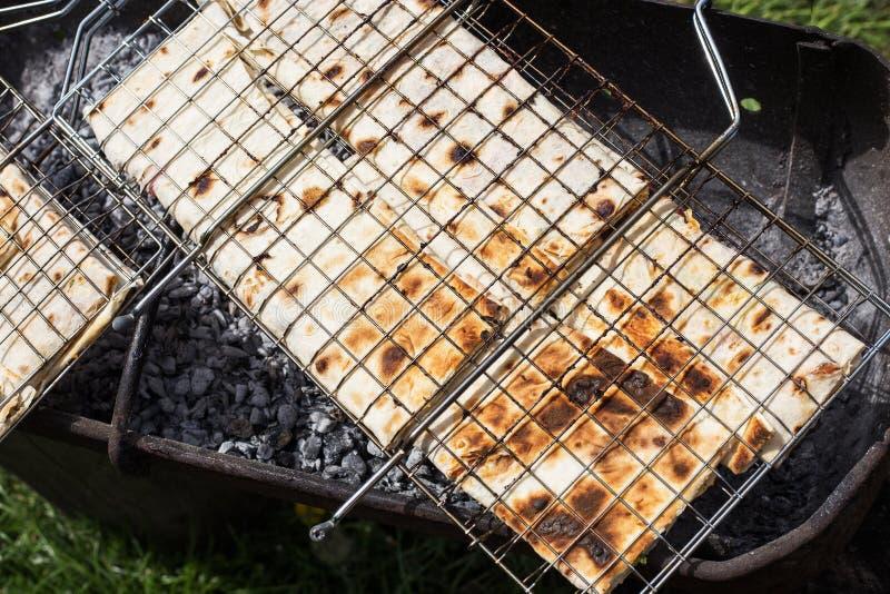 面包烤pita 免版税库存图片