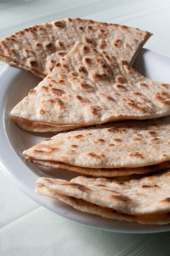 面包烤pita 免版税图库摄影