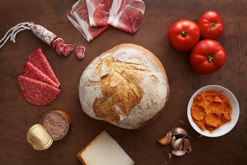 面包用冷盘 免版税库存照片