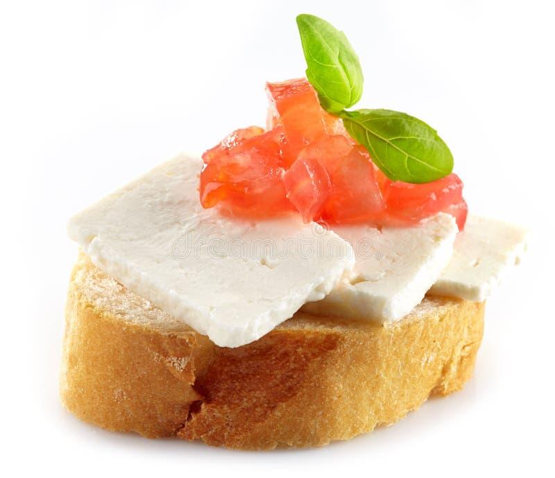 面包用山羊乳干酪 免版税库存照片