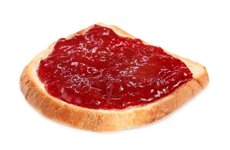 面包用草莓酱 库存照片