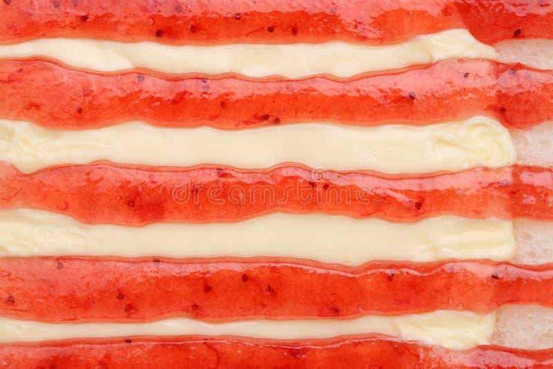 面包用草莓酱 免版税库存图片