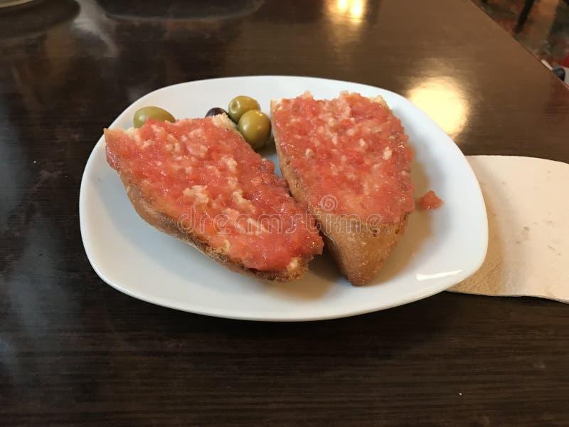 面包用蕃茄 库存照片