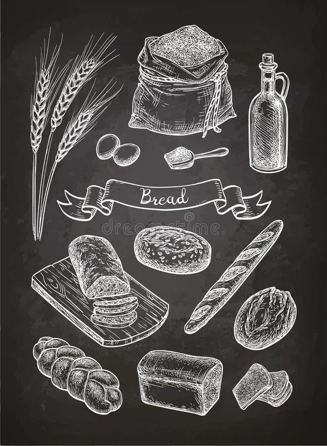 面包白垩剪影  皇族释放例证