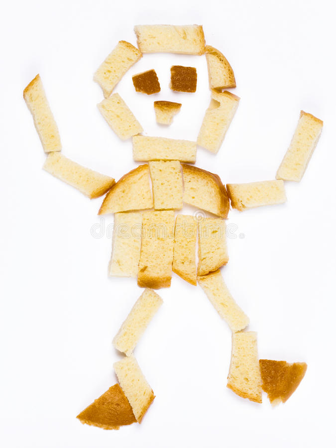 面包的人 库存图片