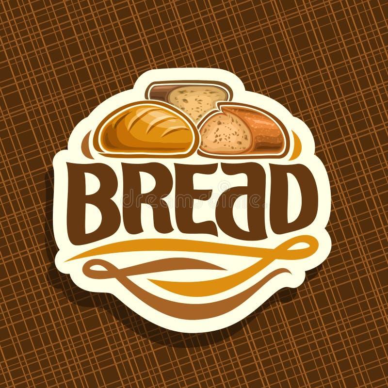 面包的传染媒介商标 皇族释放例证