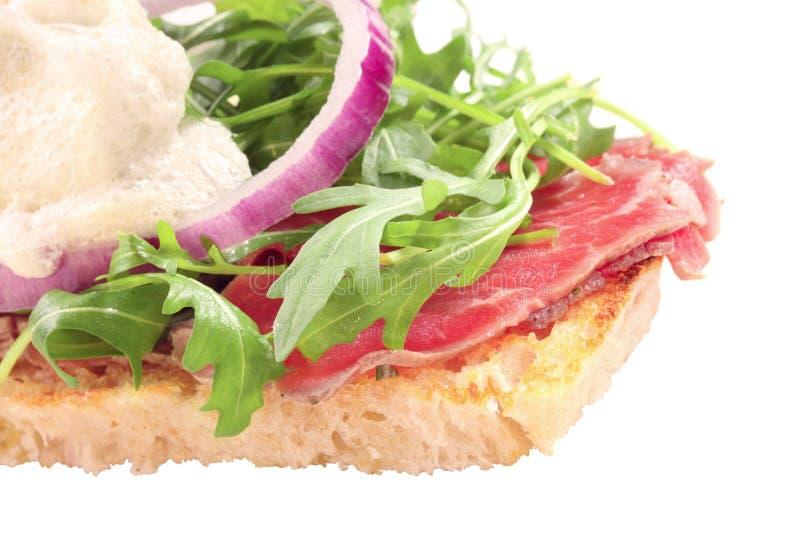 面包肉片式稀薄切 免版税库存图片