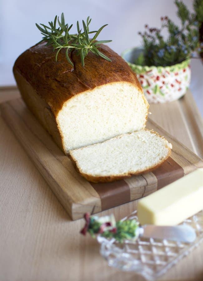 面包自创白色 免版税库存图片