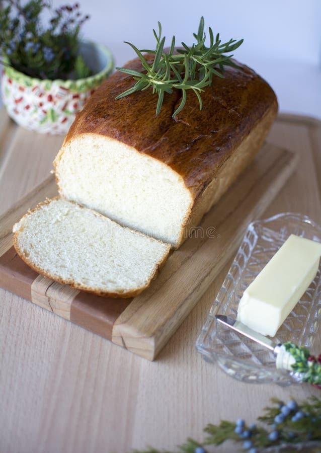 面包自创白色 免版税图库摄影