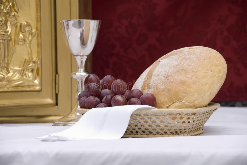 面包葡萄 图库摄影
