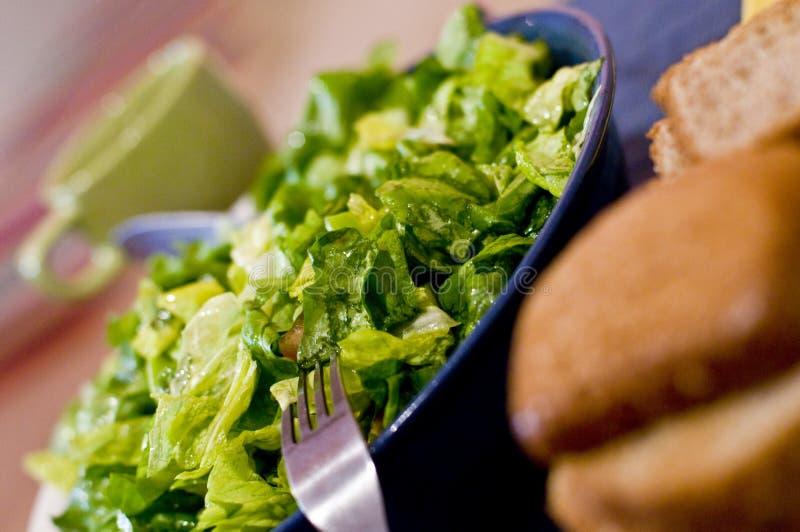 面包蔬菜沙拉 库存照片