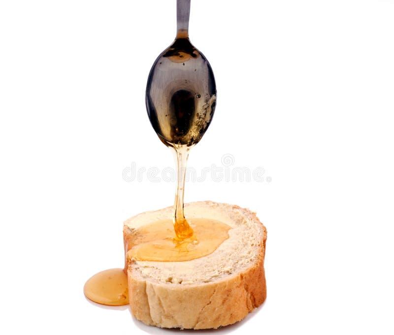 面包蜂蜜 免版税库存图片
