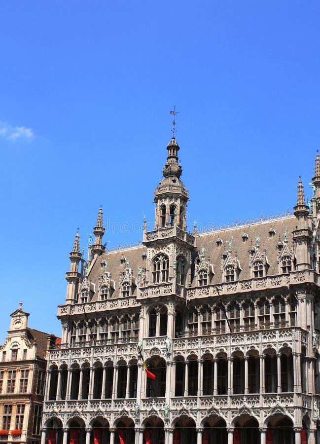 面包议院在盛大地方的在布鲁塞尔,比利时 库存照片
