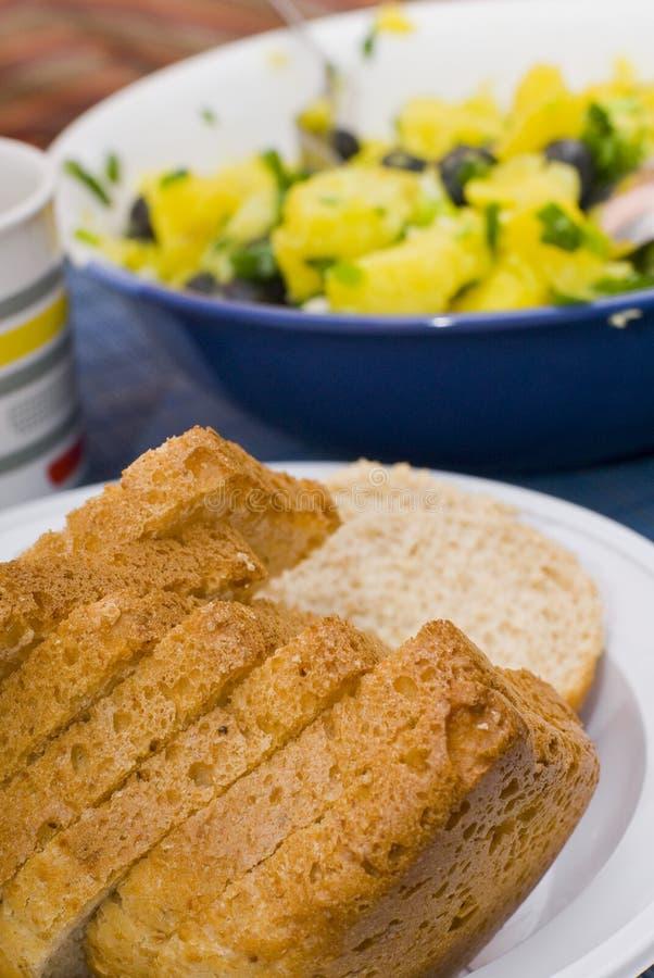 面包食物表 免版税库存图片