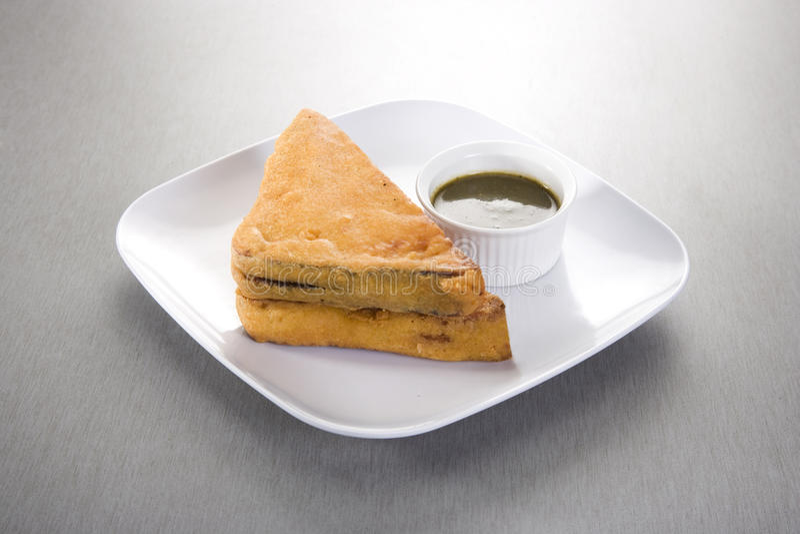 面包Pakora 库存照片