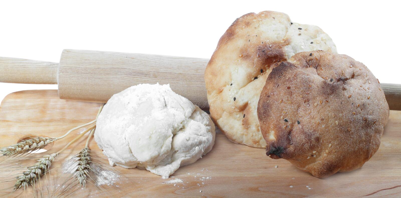 面团和面包 库存图片