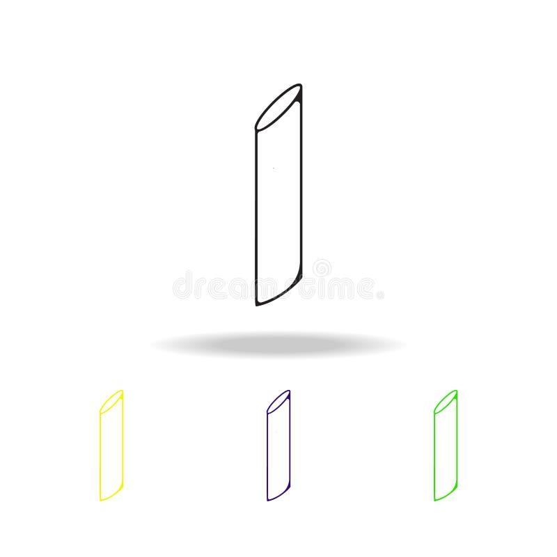面团多彩多姿的概述象 意粉元素多彩多姿的概述象 烹调标志,概述标志汇集象为 向量例证